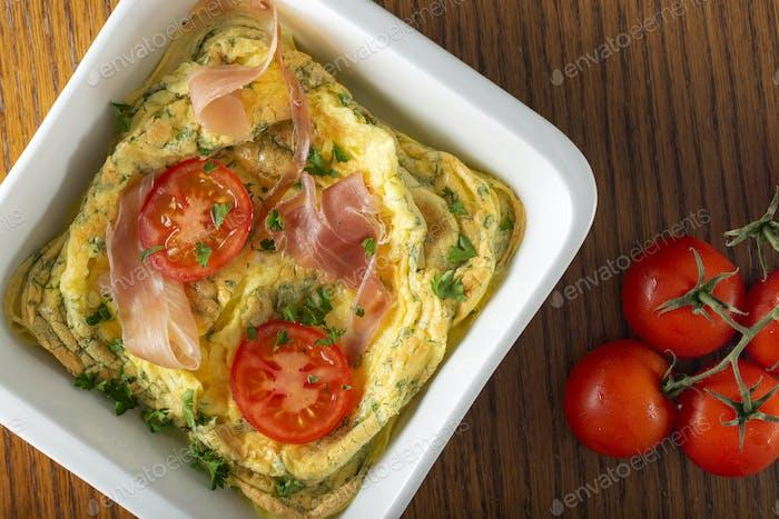 Backed Omelett