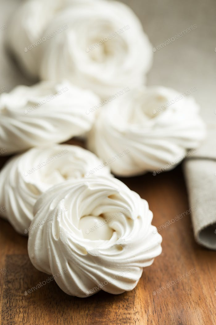 Sweet white meringue.