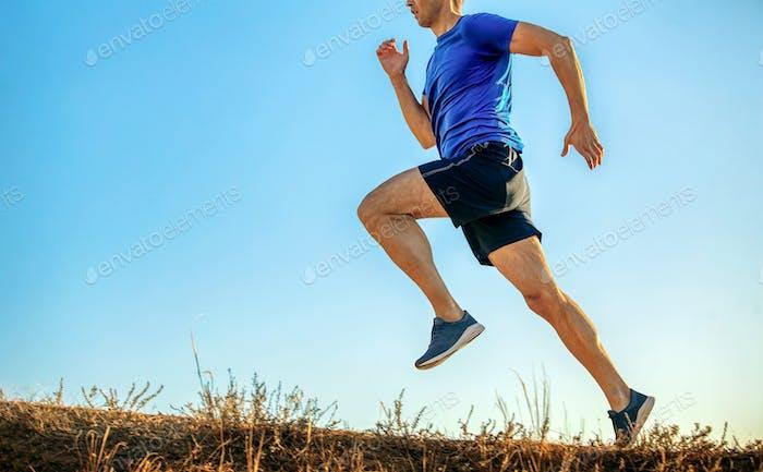 athlete runner run uphill