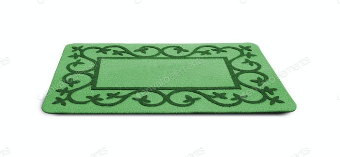 Welcome Green Door Mat