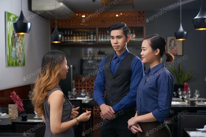 Talking to employees