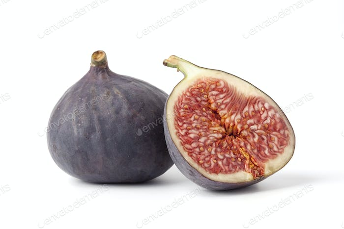 One and a half fresh ripe fig