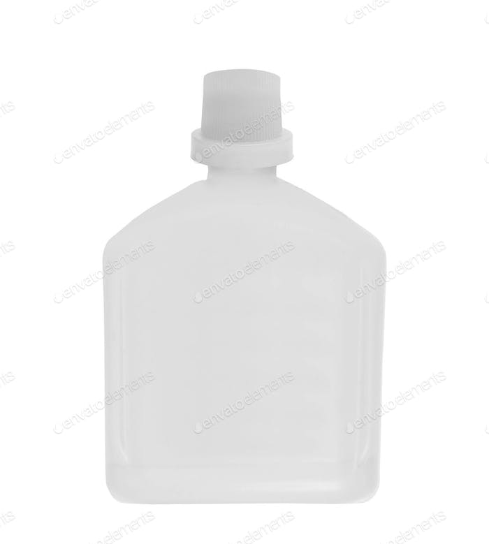 glue. plastic white bottle isolated on a white
