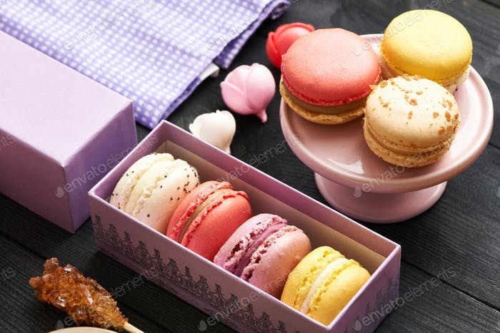 Thumbnail for French delicious dessert macaroons