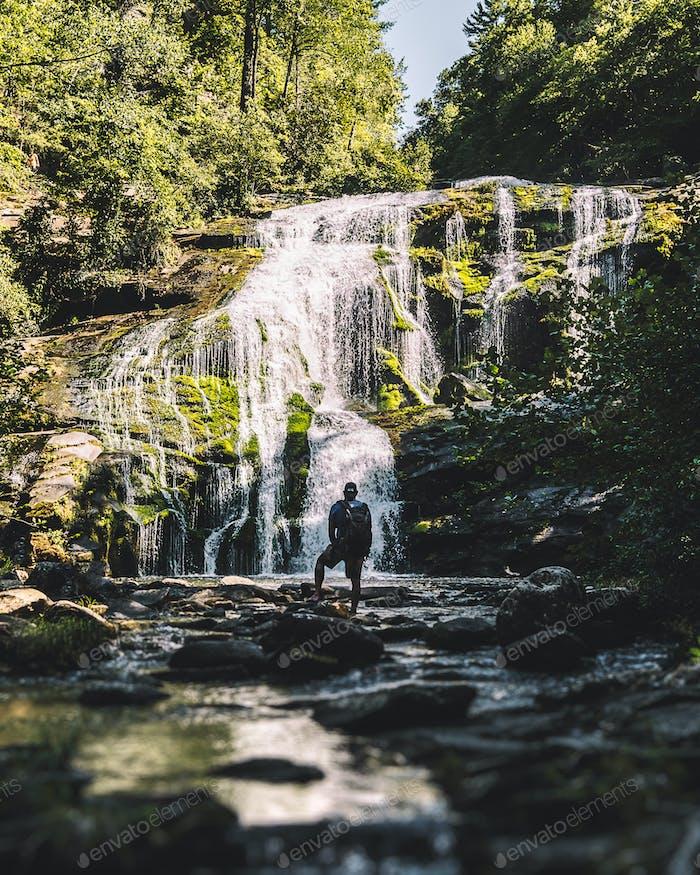 Waterfall silhouette