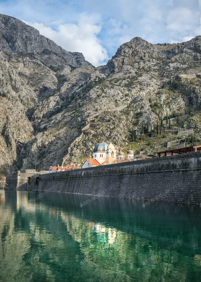 The sea gate of Kotor, Montenegro