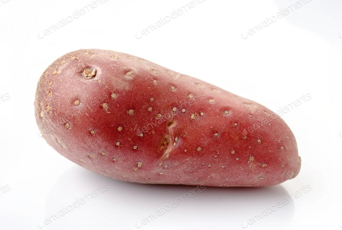 red potatoe isolated on white