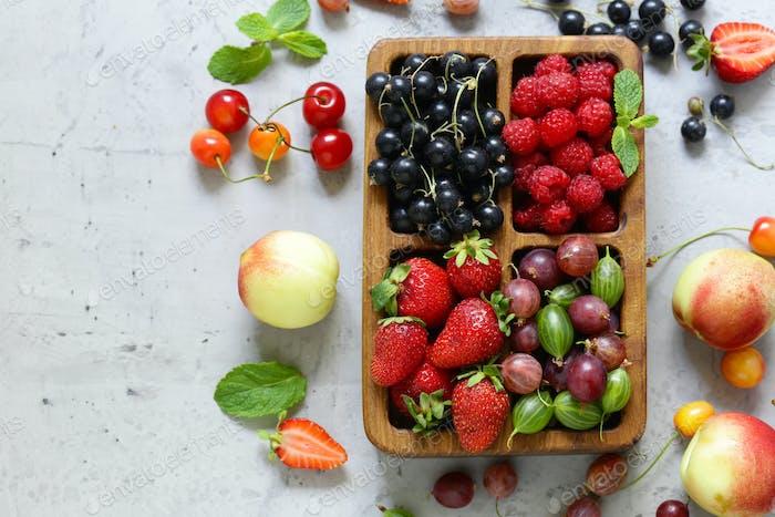 Mix of Ripe Organic Berries