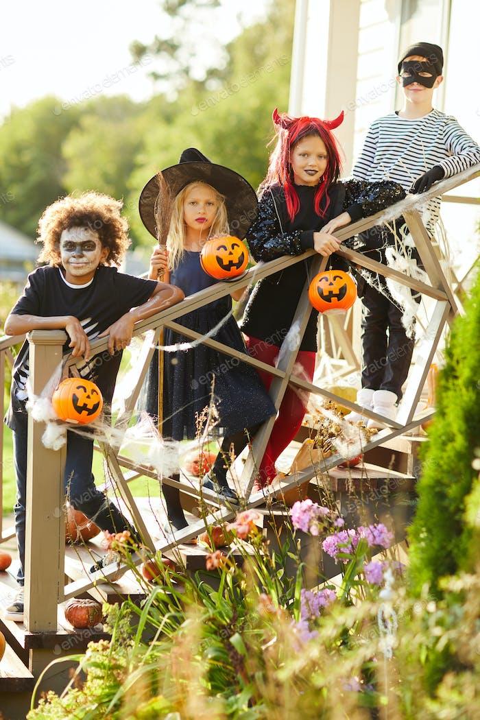 Happy Kids on Halloween