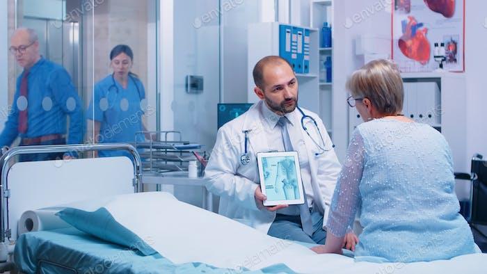 Bones disease consultation for elderly patient