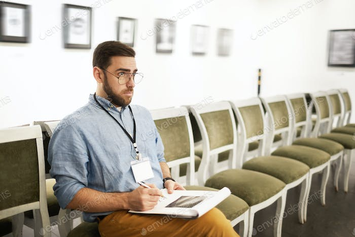 Student in Art Gallery