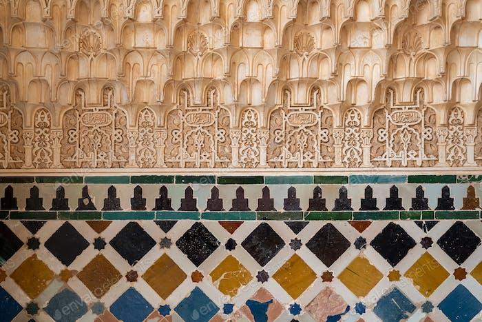 Arabische Muster in der Alhambra