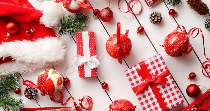 Christmas decorations near presents