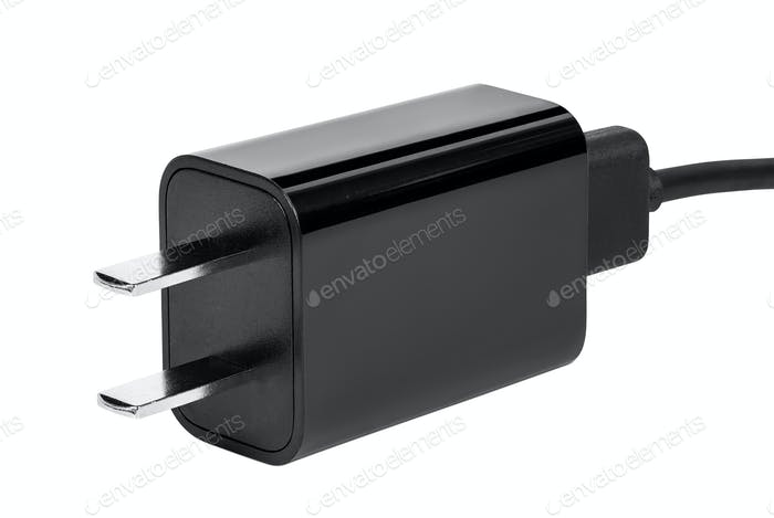 Chinese power plug on white background