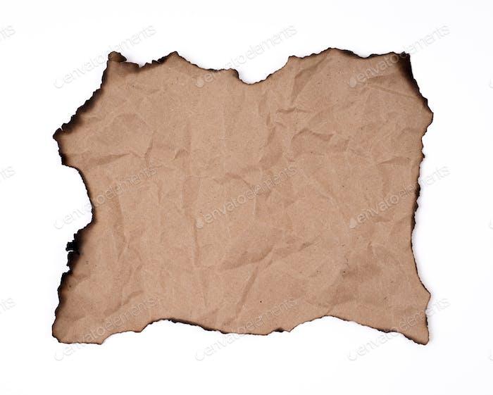 burnt paper sheet