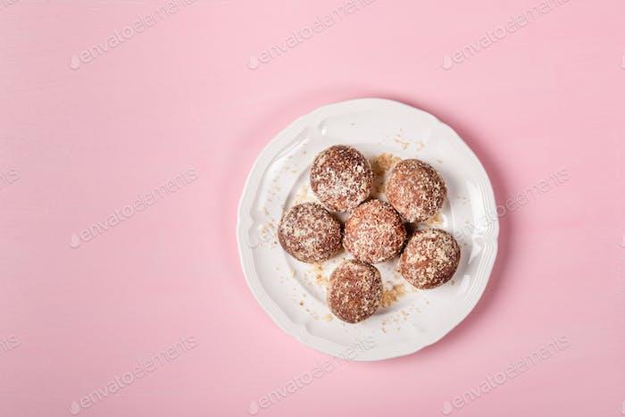 Homemade Raw Vegan Truffles or Energy Balls