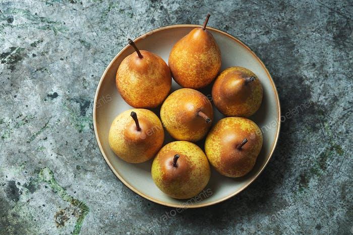 Fresh home grown pears