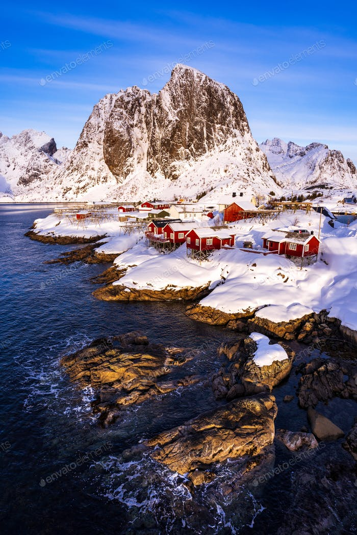 Hamnoy village in winter seasons, Lofoten Islands, Norway