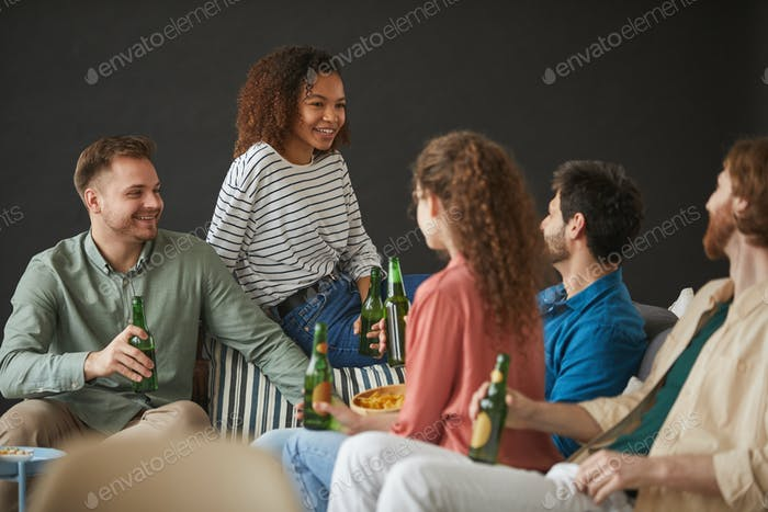 Young People Enjoying Party at Home