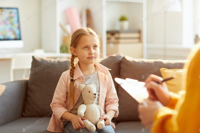 Little Girl in Therapy Session