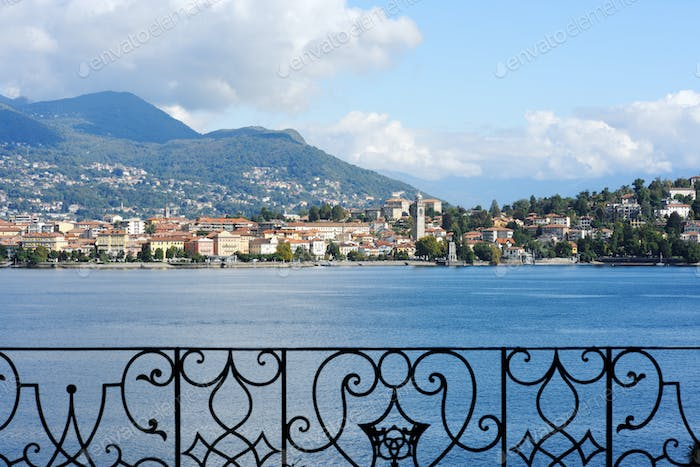 beautiful panorama of lake Maggiore