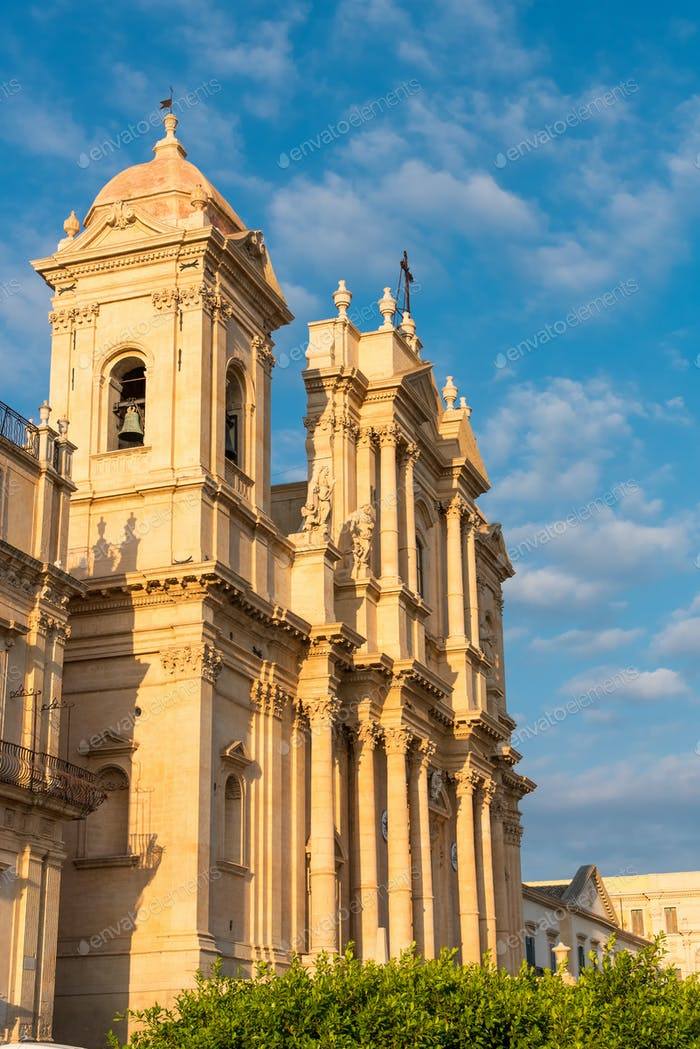 The cathedral of Noto in Sicily