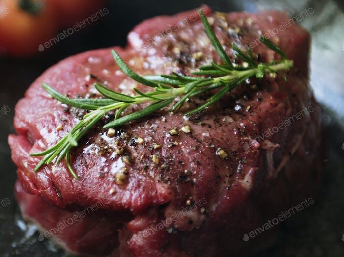 Fillet steak cooking food photography recipe idea