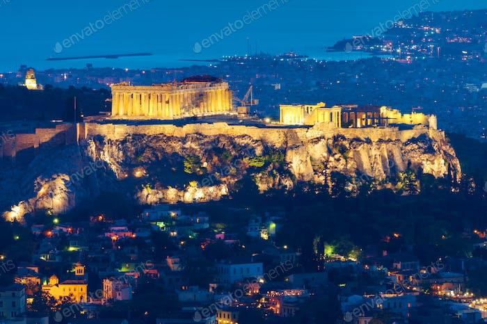 Athen in der Nacht