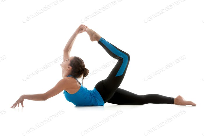 Yoga girl practicing