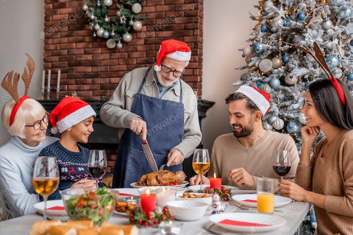 Family togetherness Christmas celebration concept