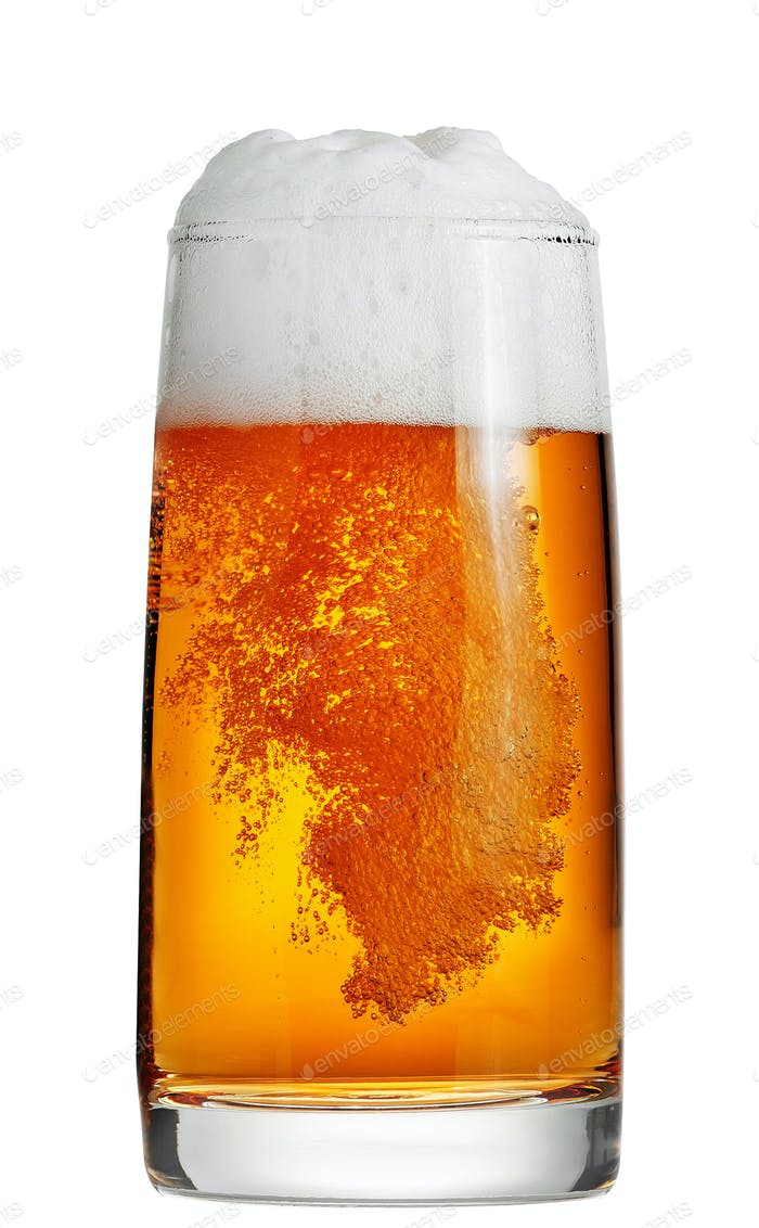 Beer isolated on white