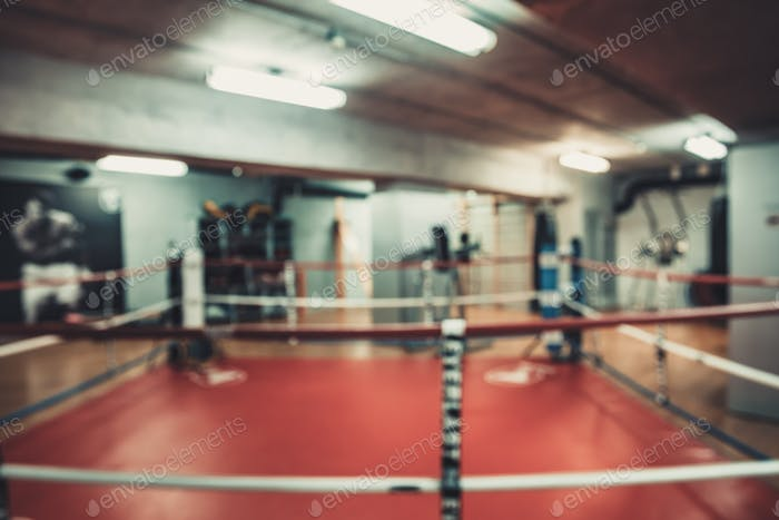 boxing area in the gym