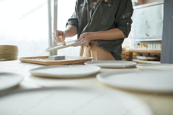 Unrecognizable Female Ceramist