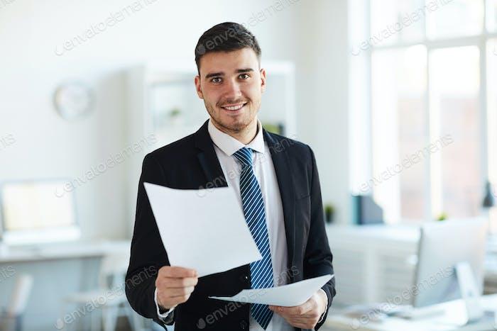 Thumbnail for Banker in office