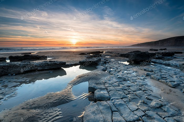 Dunraven Bay on the Coast of Wales