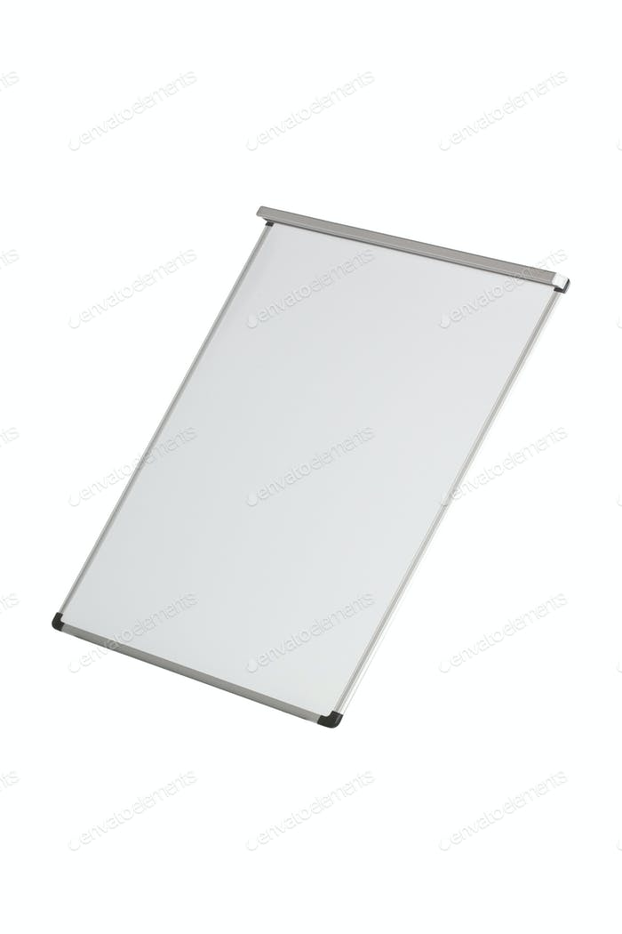 Empty whiteboard isolated on white