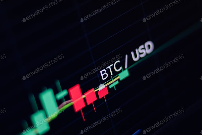 Bitcoin exchange screen of trading information