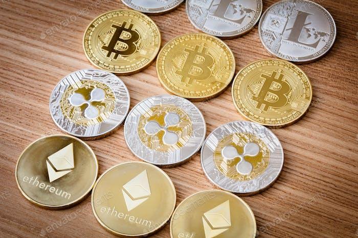 Kryptowährungsmünzen