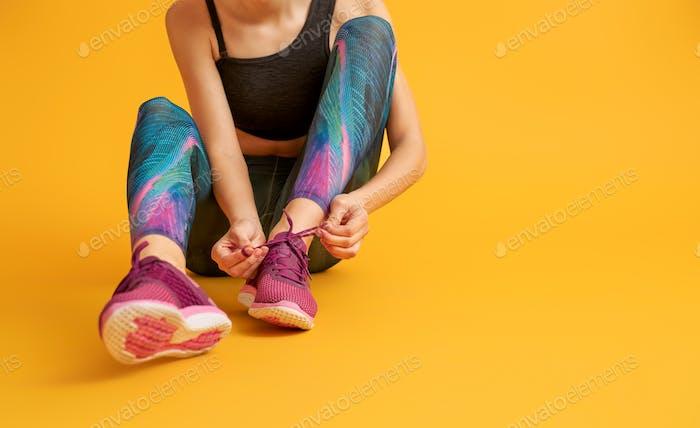 Woman in fashionable sportswear