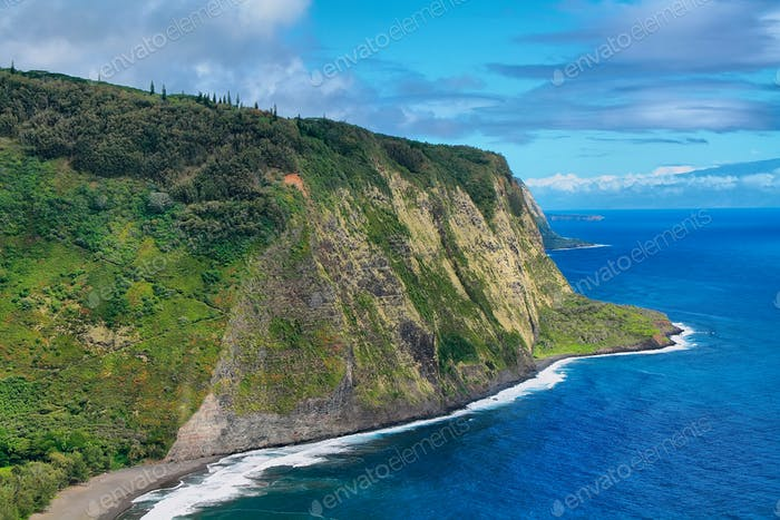 Waipio Valley view in Hawaii