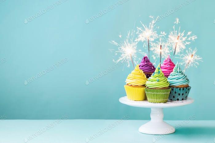 Cupcakes With Sparklers Foto Von RuthBlack Auf Envato Elements