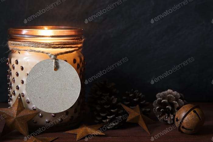 Rustic Christmas Scene