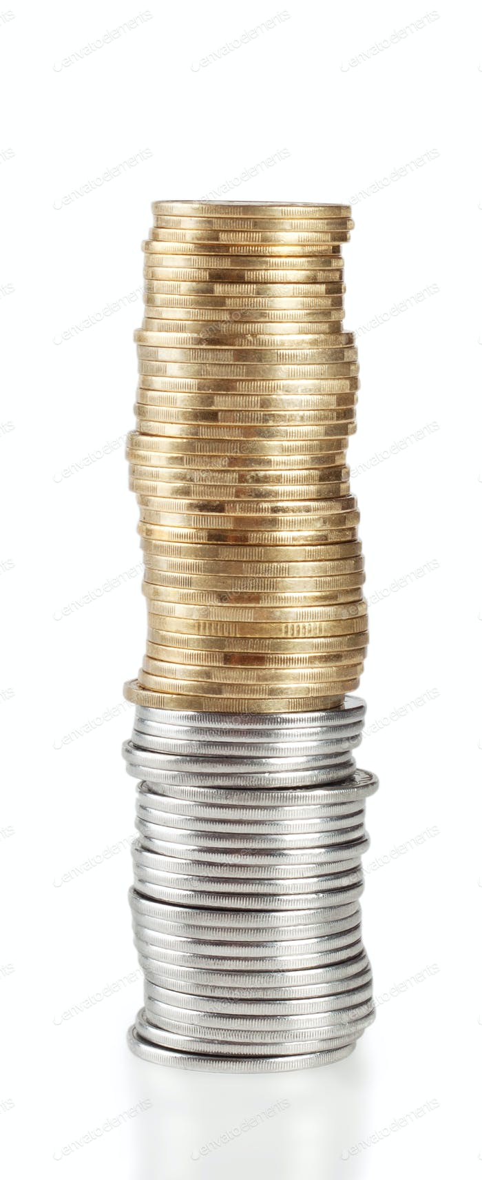 High pile of coins