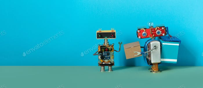 Robotics delivery business, online orders shipping service.