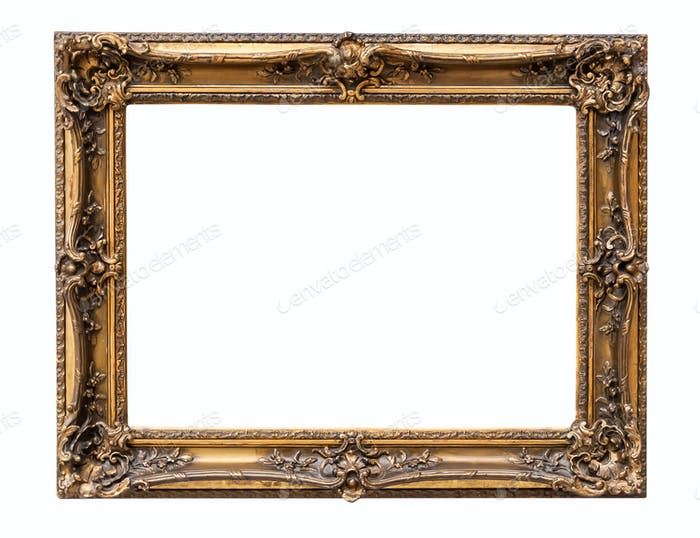 Rectangle decorative bronze picture frame
