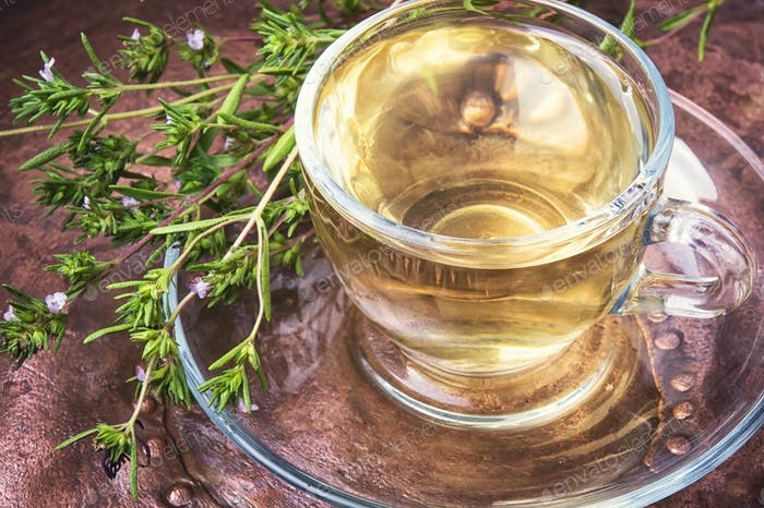 Healing herbal Oregano tea