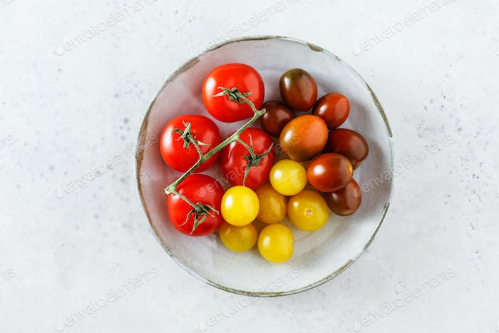 Delicious homegrown freshly picked tomatoes