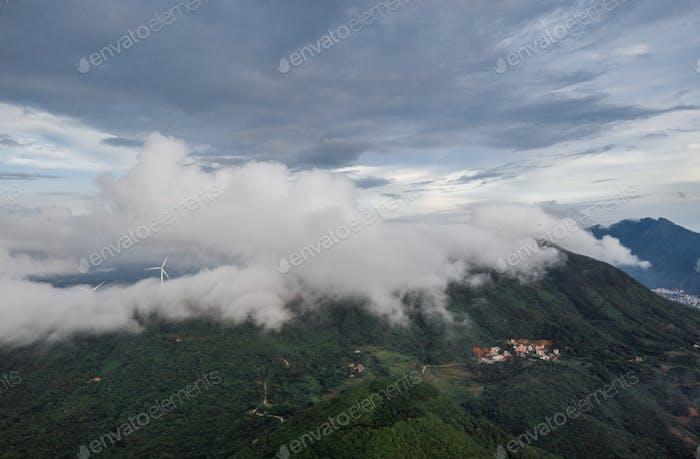 The village was in fog