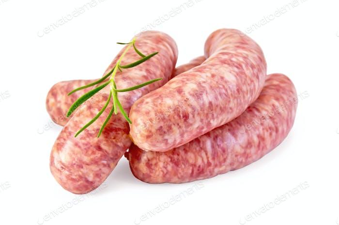 Wurst Schweinefleisch mit Rosmarin