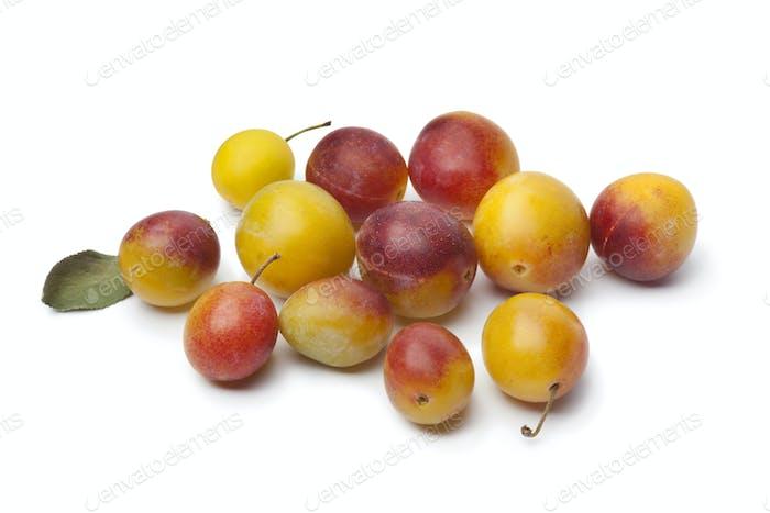 Fresh ripe mirabelle plums
